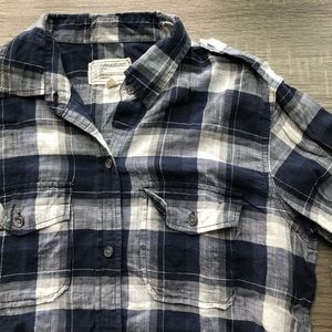 Current/Elliott Perfect Shirt, Venice Plaid, Sz 2